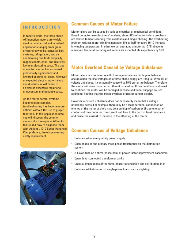 Troubleshooting 3 Phase Ac Motors And Capacitor Switches Cause Most Singlephase Motor Malfunctions Agilent Technologies Three Pages
