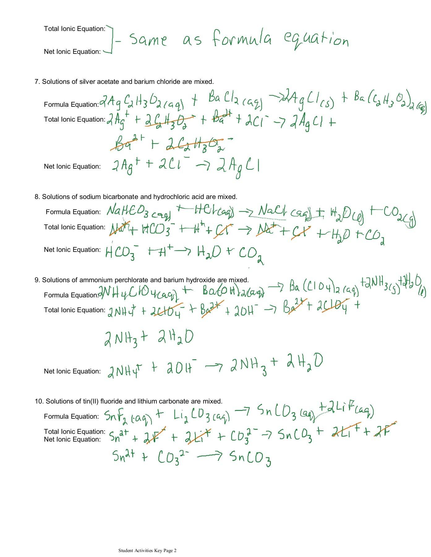 Formula Equation For Sodium Hydroxide With Hydrochloric Acid