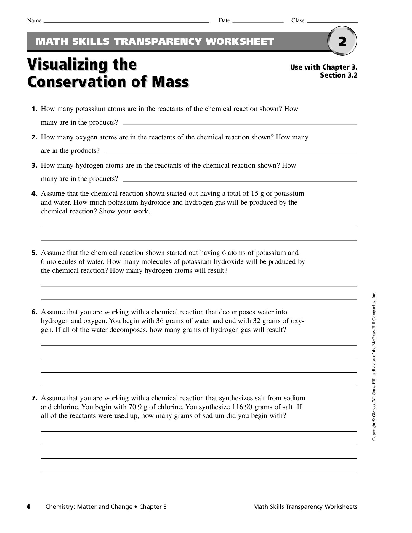 Teaching Transparency Worksheet Answers Chapter 9
