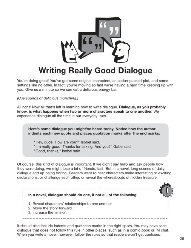 Writing Really Good Dialogue - NaNoWriMo YWP Pages 13 - 13 - Flip