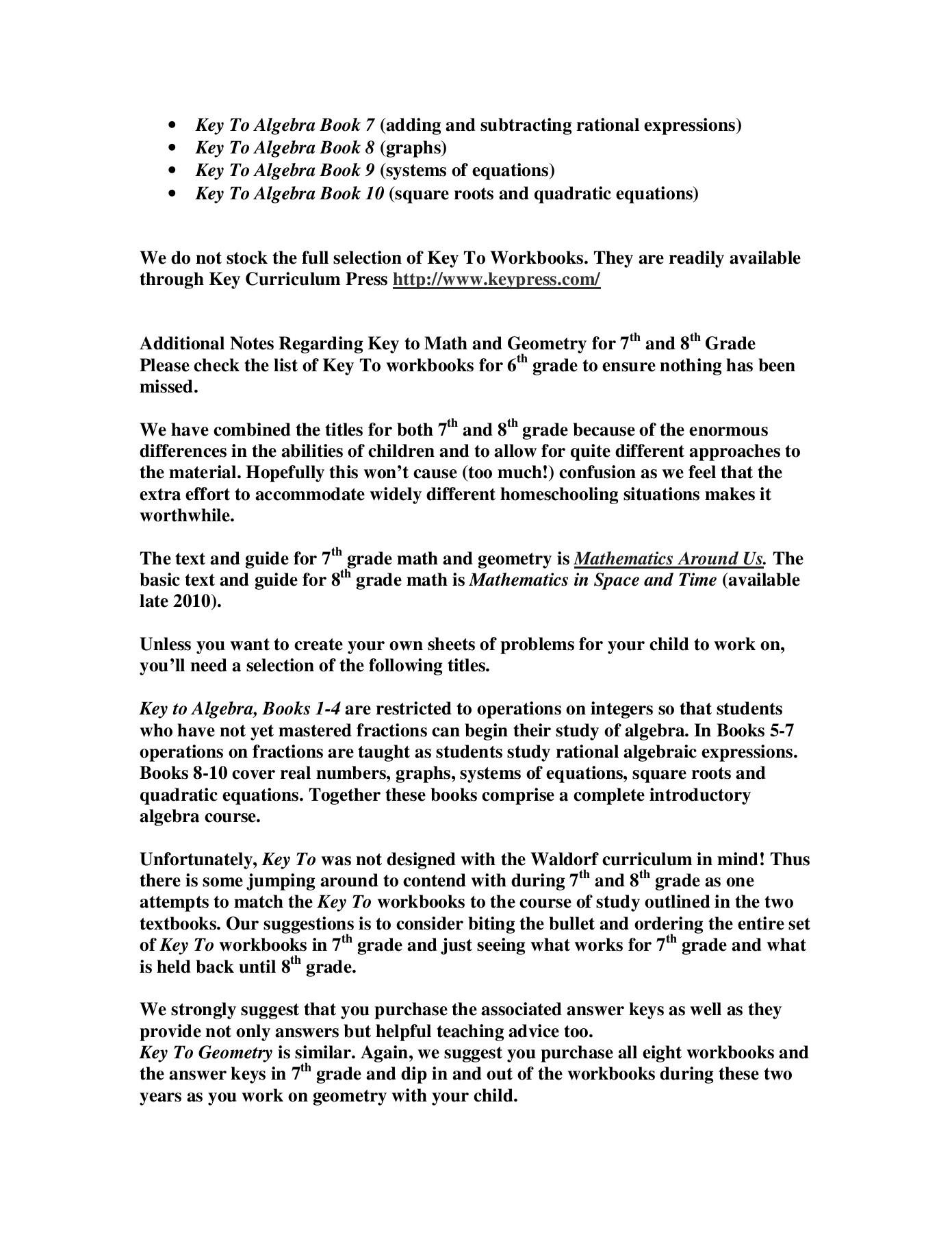 Curriculum Associates Math Answer Key Grade 7