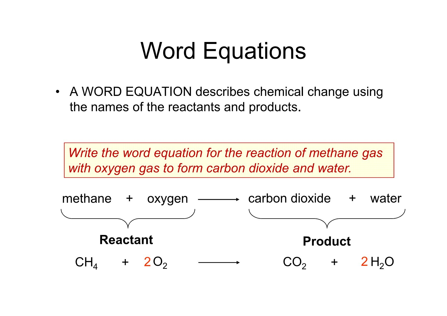 Worksheet Word Equations Chemistry A Study Of Matter