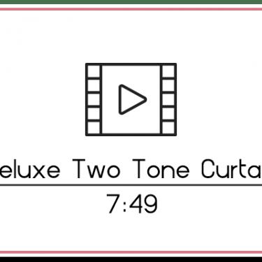 29.2 Two Tone Curtain Three Panel