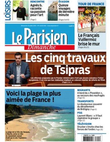 Le Parisien + Guide de votre dimanche 12 juillet 2015