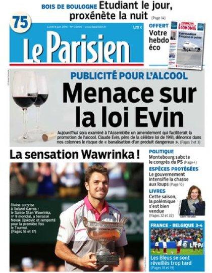 Le Parisien + journal de Paris et supplément économie du lundi 08 juin 2015