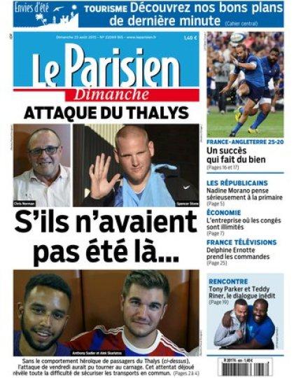 Le Parisien + Envies d' Eté du dimanche 23 aout 2015