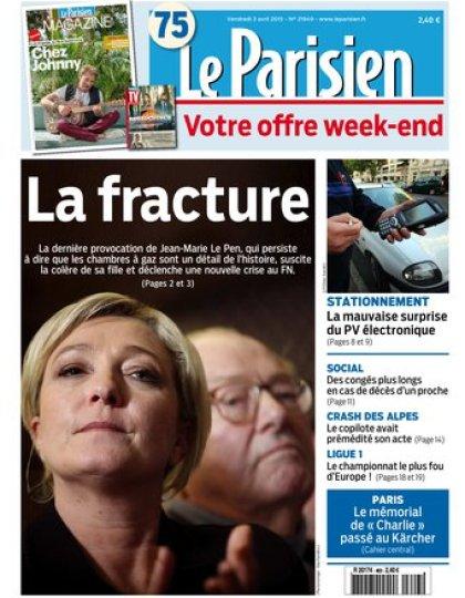 Le Parisien + journal de paris & Magazine du vendredi 03 avril 2015
