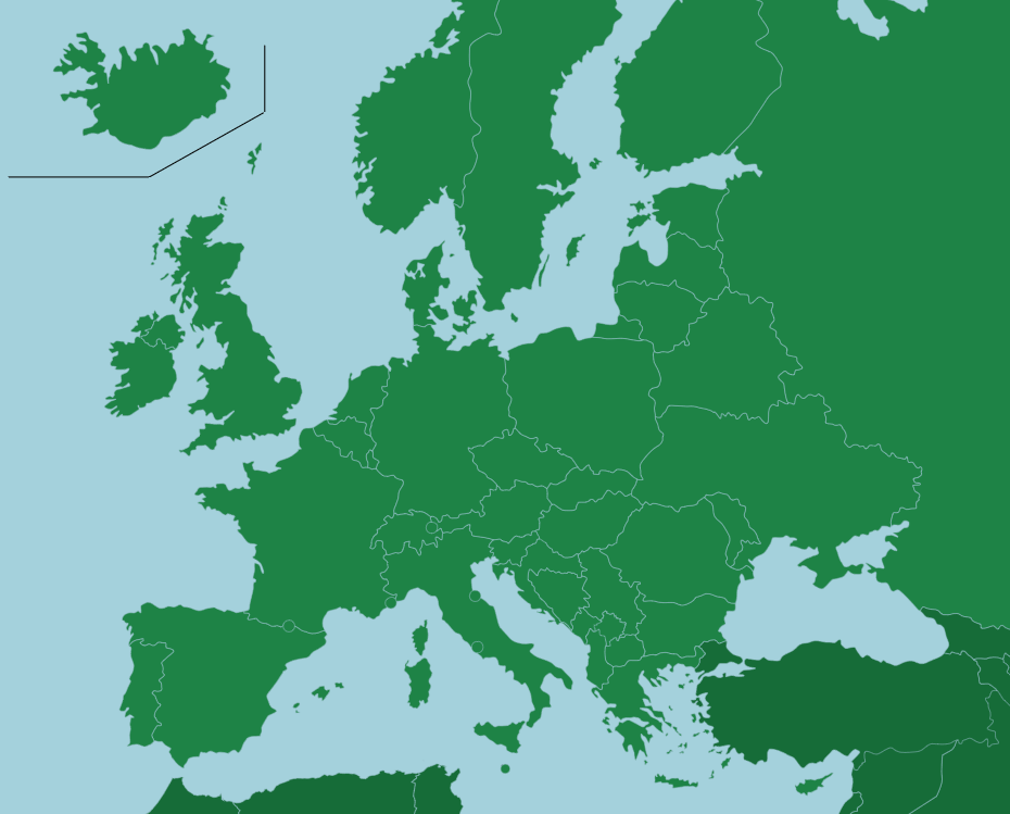Europe  Countries   Map Quiz Game