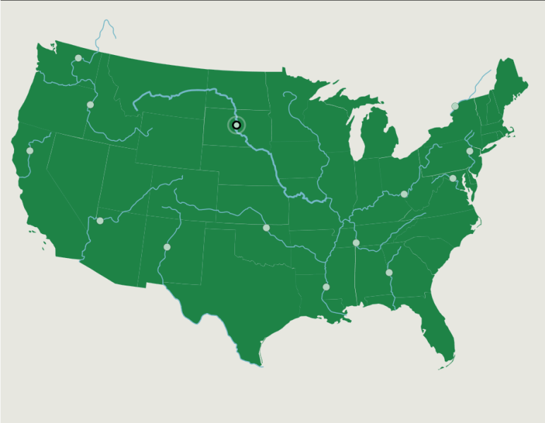 The Contiguous U S   Rivers   Map Quiz Game