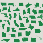 The U S 50 States Outlines Map Quiz Game