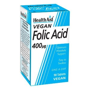 HealthAid Folic Acid Vegan 400 units