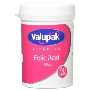 Valupak Folic Acid 400 units