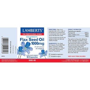 Lambets Flax Seed (Linseed) Oil 1000mg