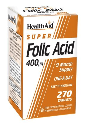 HealthAid Super Folic Acid 400 units