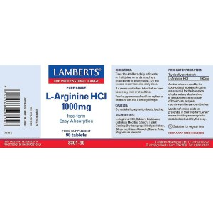 Lamberts L-Arginine HCl 1000mg