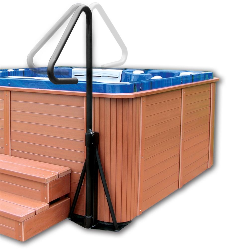Hot Tub Safety Rail Powder Coated Black