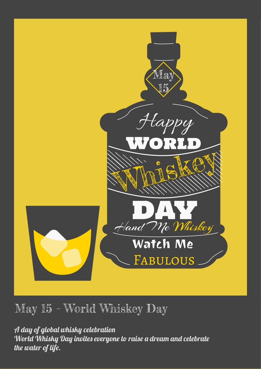 whiskey day poster poster template