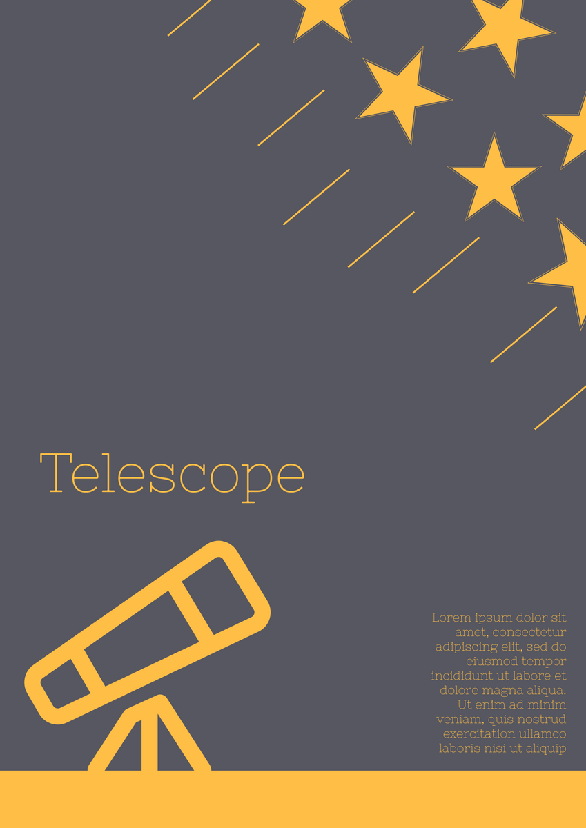 telescope poster poster template