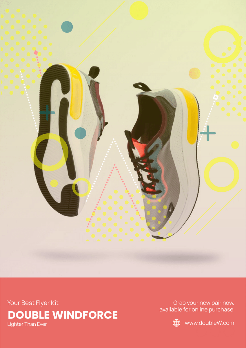 sneakers poster poster template