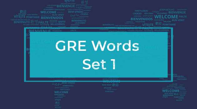 GRE Words List 1