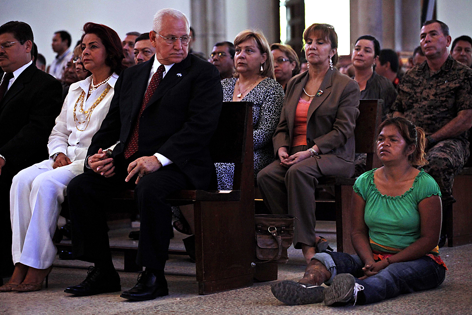 Micheletti at mass. Image is from WSJ.
