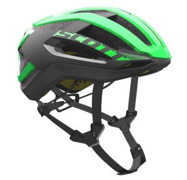 【ワイズロードオンライン限定特価】SCOTT ( スコット ) ヘルメット HELMET CENTRIC PLUS グリーン ブラック M☆ほかのサイズもございます
