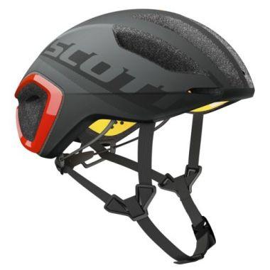 【ワイズロードオンライン限定特価】SCOTT ( スコット ) ヘルメット HELMET CADENCE PLUS グレー レッド M☆ほかのサイズもございます