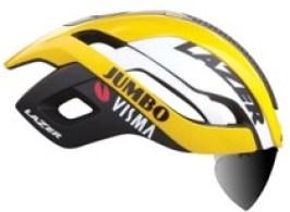 【限定モデル】LAZER ( レーザー ) ヘルメット BULLET 2.0 AF ( バレット 2.0 アジアンフィット ) JUMBO - VISMA ( ユンボ ヴィスマ ) チームレプリカ レンズ LEDテールライト付 M