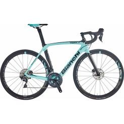 【通勤特典】 BIANCHI ( ビアンキ ) 2021 ロードバイク OLTRE XR3 CV DISC 105 ( オルトレ XR3 CV ディスク 105 ) CK16 ( チェレステ ) / ブラック フル グロッシー 53