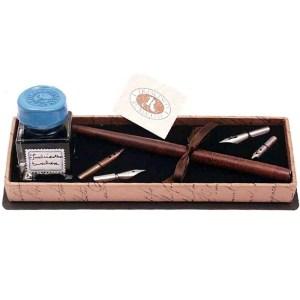 EDA751016-Πένα ξύλινη με εργαλεία γραφής και μελανοδοχείο Francesco Rubinato 550