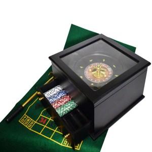 EDE808003-Ξύλινο σετ ρουλέτας από μαόνι 30cm SuperGifts 60402 | Online 4u Shop