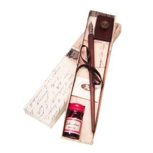 EDA751081-Σετ ξύλινη πένα γραφής με στυπόχαρτο Rubinato 4PIPPO  Online 4U Shop