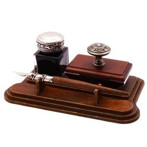 EDA751082-Ξύλινο σετ γραφής μαόνι Francesco Rubinato 7640 | Online 4U Shop