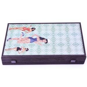 EDE900051-Ξύλινο τάβλι wenge Manopoulos TXL1PWT pin up girls | Online 4U Shop