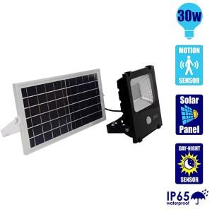 HGH309018-Ηλιακός Προβολέας LED 30W με Αισθητήρα Ψυχρό Λευκό GloboStar 12102 | Online 4U Shop