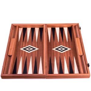 EDE900057-Τάβλι βαλίτσα Manopoulos BSM1 μαόνι-βελανιδιά-σφένδαμος | Online4uShop