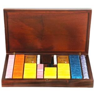 EDE905016-Ξύλινη κασετίνα καρυδιάs με 485 μάρκες Radica 307430 | Online 4U Shop