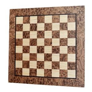 EDE854040-Σκακιέρα Χειροποίητη Καρυδιά-Δρυς WB50J Μanopoulos | Online 4U Shop