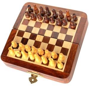ede854044-Μαγνητικό σκάκι ταξιδιού Μαόνι Δρυς CTL35 Manopoulos |Online 4U Shop