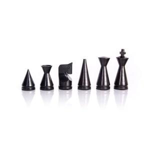 EDE098009 Ξύλινα Πιόνια Σκάκι Μοντέρνου Στυλ 7.6cm-F40E
