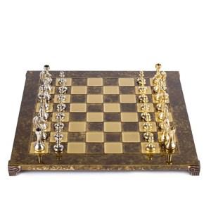 EDE854056-Μεταλλικό σκάκι Staunton 36x36cm Καφέ S34 Manopoulos |Online4uShop