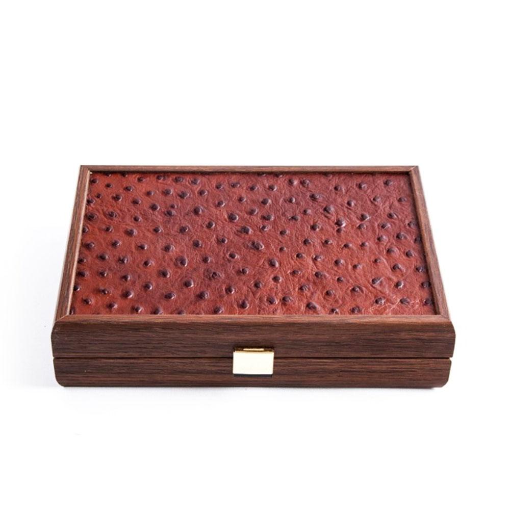 Ντόμινο σε κουτί με δέρμα Ostrich Manopoulos DLE20