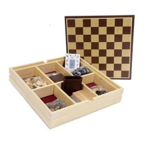 EDE098016-Ξύλινη συλλογή 7 παιχνιδιών Supergifts 108351 | Online 4U Shop