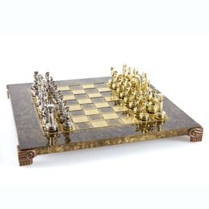 EDE854006-01 Χειροποίητο μεταλλικό σετ σκακιού της Ελληνορωμαϊκής περιόδου