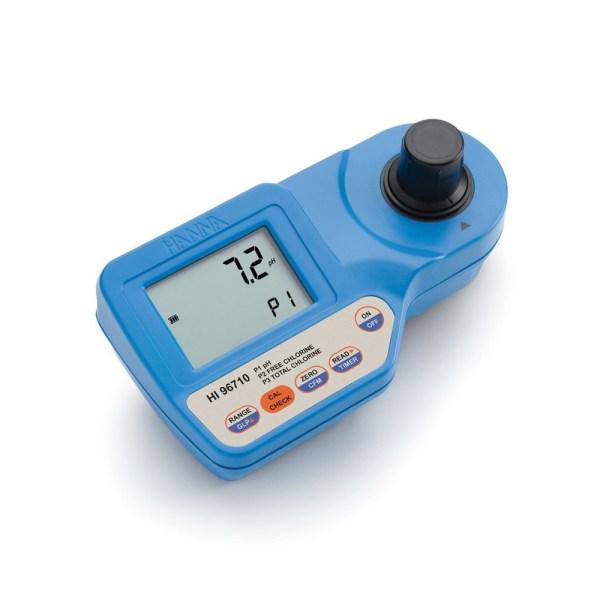 OM753005-01 Μετρητής pH - Φωτόμετρο ελεύθερου και ολικού χλωρίου HI96710