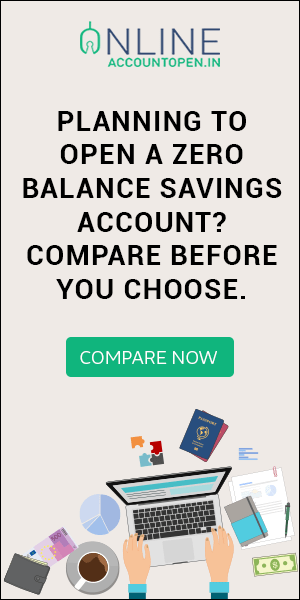Zero Balance Savings Account