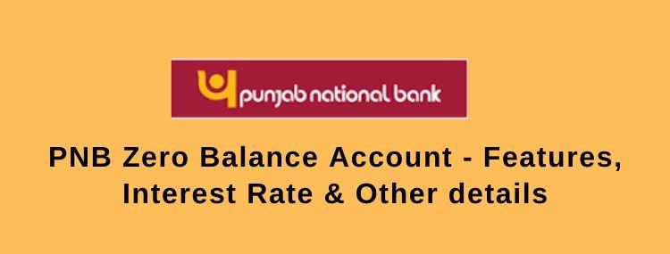 pnb zero balance account