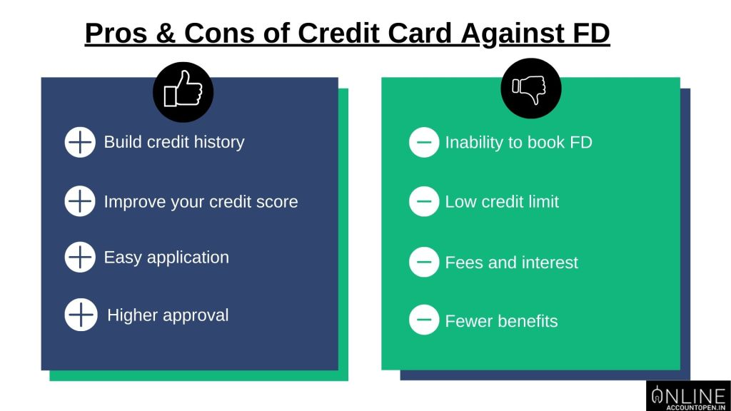 pros and cons of credit card against FD