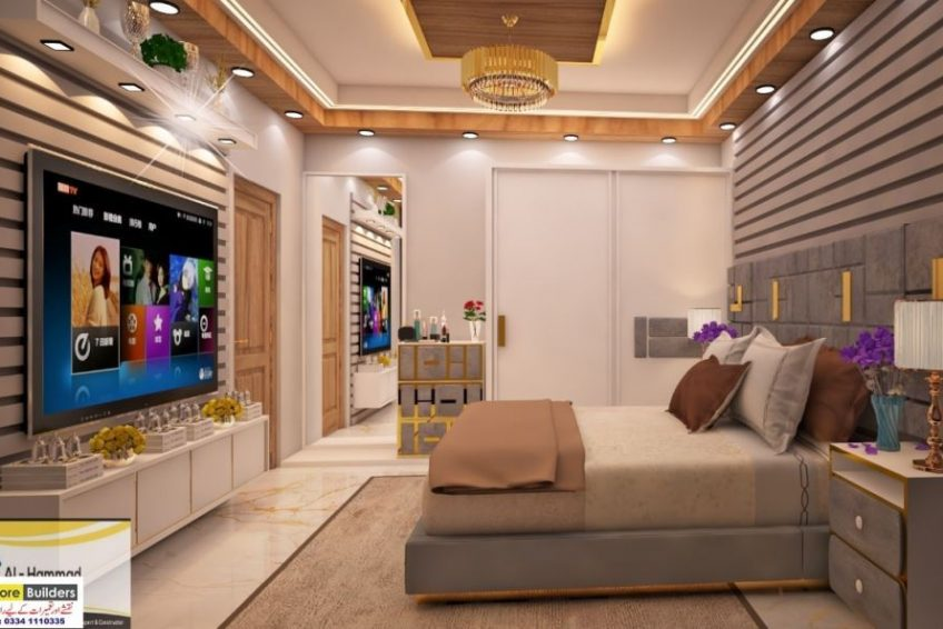 Walls that are generally forgotten while designing are upholstered and mirrors are placed right next to them to create a vast interior. 50 Best Modern Most Beautiful Bedroom Designs | Online Ads