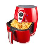 1400W-Air-fryer-Healthy-Smokeless-Low-Fat-Non-stick-Multi-Cooker-Oilless-Cooker-4L-38QT-Capacity-with-Timer-and-Temperature-Control-and-Detachable-Basket-Handles-Red-0